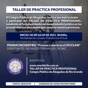 """""""Taller de Práctica Profesional"""""""
